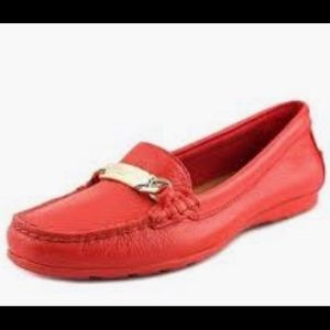 Coach Sz 6B Red Leather Loafers